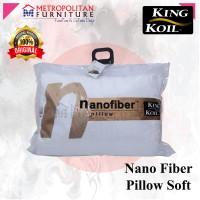Bantal KING KOIL Nano Fiber Pillow Soft / KingKoil Nanofiber Ori Empuk