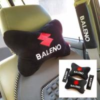 Bantal leher Bantal mobil Suzuki Baleno hitam