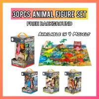Animal Set 30Pcs Figure Mainan Anak Binatang Dinosaurus miniatur Set
