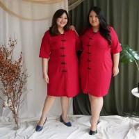 Shuu Cheongsam Big Size Elegant Baju Wanita Imlek CNY Shirt - BSS