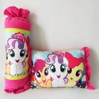 Bantal Karakter Little Pony Set Bantal Guling Karakter Printing Permen