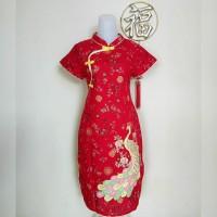 Dress Cheongsam Wanita / Remaja Katun