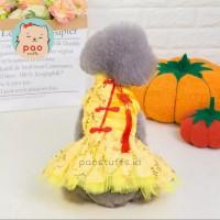 Cheongsam Tutu Dress baju imlek sincia anjing kucing import premium