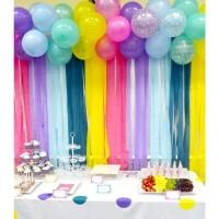 Balonasia Dekorasi Streamer Kertas Krep 5warna Rainbow
