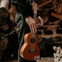 Ukulele Concert Mandalika Coklat Tua Original Concerto Full Set