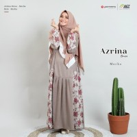 Azrina dress Mocha Yasmeera/Gamis Katun medina /Gamis saja