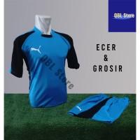 Baju Futsal Kaos Futsal Setelan Futsal Jersey Nike Puma Turkis Hitam