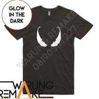 T1446 Kaos Tshirt Baju Combed 30S Distro Glow In The Dark Venom Eyes .