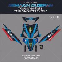 Sticker Striping Motor Stiker Yamaha Mio Sporty Biru Monster Energy Sp