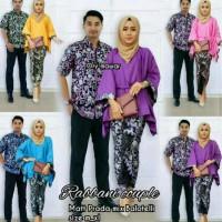 setelan baju kemeja & kebaya batik couple rabbani set