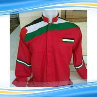 baju gamis pria edisi Koko palestina terang merah