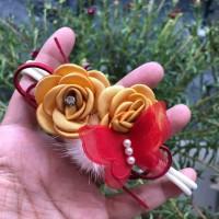 bandana imlek/ chinese new year headband bunga kupu