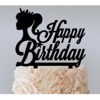 CAKE TOPPER HAPPY BIRTHDAY/SELAMAT ULANG TAHUN