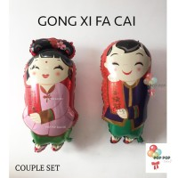 Balon COUPLE SET - edisi Chinese New Year – Imlek – GONG XI FA CAI