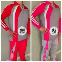 stelan baju kaos training lengan panjang olahraga pria & wanita