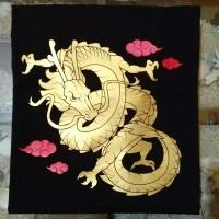 Kaos Distro Baju Atasan Pria Wanita - Chinese Dragon Gold Print