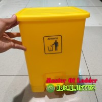 KRISBOW Mini Pedal Bin 15 L Tempat Sampah Injak Outdoor Indoor Kuning