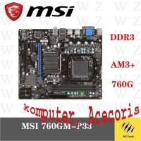 Motherboard untuk MSI 760gm p21 p23 p33 p33 DDR3 8GB USB 2.0 VGA Origi