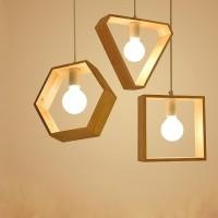 kap lampu gantung rustic kayu jati belanda minimalis dekorasi cafe
