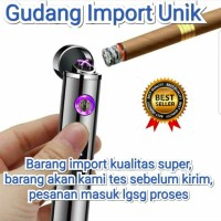 KOREK API ELEKTRIK DUAL ARC PLASMA USB LIGHTER, IMPORT KUALITAS SUPER