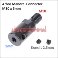 Konektor Arbor Gerinda Dinamo Mandrel Adapter converter M10 x 5mm 32