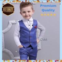 Set Rompi Anak Formal + Baju + Celana / Set Tuxedo Anak Premium - XL