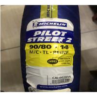 Ban Motor MICHELIN TL PILOT STREET 2 90/80 Ring 14 Tubeless
