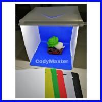Mini Photo Studio Box Portable LED Foto Produk FREE 6 Background Warna
