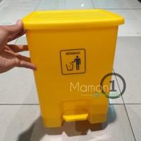 Krisbow tempat sampah injak 15L/Pedal bin outdor indoor 15 L - Kuning
