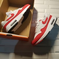 Sepatu Nike Airmax 1 Anniversary White Red Premium Original