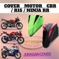 Cover motor sarung motor Sport CBR /NINJA/R15/Vixion / Tiger /cb150 - Silver