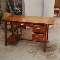meja kerja /kantor kayu jati minimalis