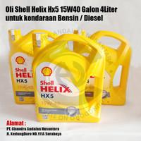Oli Shell Helix Hx5 15W40 Galon 4Liter untuk kendaraan Bensin / Diesel