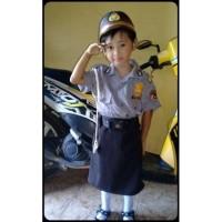 Baju Polisi Sabhara anak Cewek - Baju Pocil anak perempuan-Baju polisi - XL