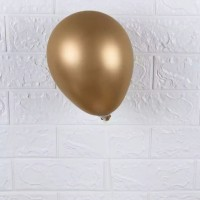 Balon Latex Metalic Chrome Gold / Balon chrome warna emas