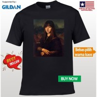 Kaos Baju Obral Combed 30s Distro Monalisa Lisa Blackpink Black Pink