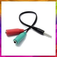 Audio Mic Splitter Combiner Adapter For Headset Handsfree Kabel Audio