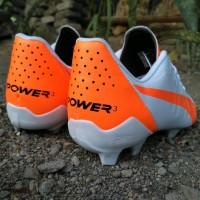 Sepatu bola puma evopower white orens grade original