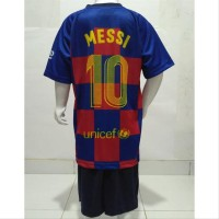 Setelan Jersey Team Kaos Anak Baju Bola Anak Messi spare part