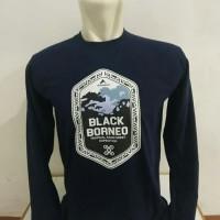 Kaos Baju Obral Combed 30 Distro Eiger Black Borneo Kalimantan Panjang