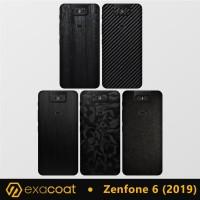 Skin / Garskin Asus Zenfone 6 (2019) Exacoat - Carbon Fiber, Cut-Back Only