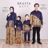 Baju Batik Sarimbit Keluarga + Sarimbit Brasta Navy + Original Brand