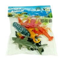 Mainan Anak Figure Binatang Laut Sea Animal Ikan Set 9Pcs 121-15