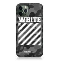 Hard Case Bape White Off White For iPhone 11 - 11 Pro - 11 Pro Max