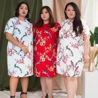 Taehee Sakura Big Size Dress Baju Wanita Imlek CNY Lunar Shirt 6258