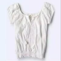 Blus putih bohemian (boho two wearing style top)