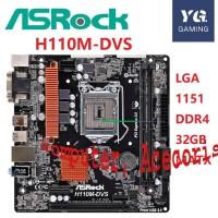 ASROCK H110M DVS Desktop Motherboard H110 Socket LGA 1151 DDR4 32G MAT