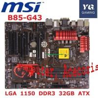 Motherboard MSI B85 G43 Gaming LGA 1150 DDR3 32GB untuk Motherboard De
