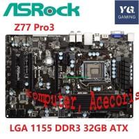 Asrock z77 Motherboard z77 Soket LGA 1155 DDR3 32GB ATX Original untuk