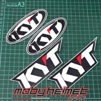 Sticker KYT Logo Helm - Paket Repaint